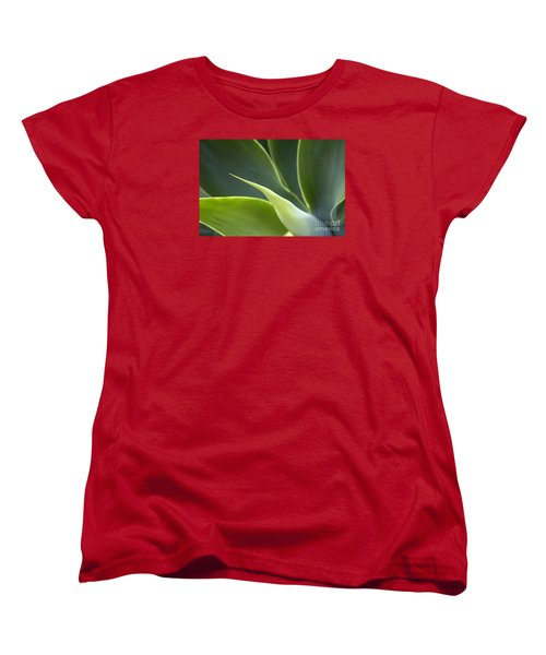 Plant Abstract Women's T-Shirt (Standard Cut) by Tony Cordoza