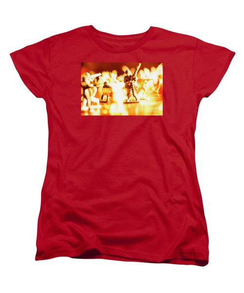 Women's T-Shirt (Standard Cut) featuring the photograph Plastic Army Men 1 by Micah May