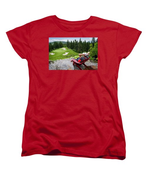 Women's T-Shirt (Standard Cut) featuring the photograph Play Through Or Enjoy The View by Darcy Michaelchuk
