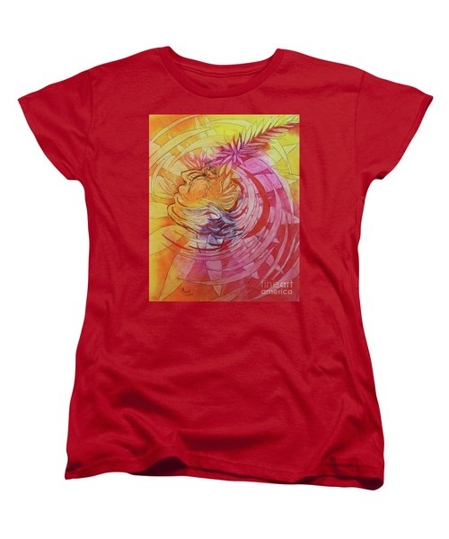 Women's T-Shirt (Standard Cut) featuring the drawing Polynesian Warrior by Marat Essex