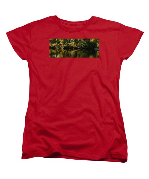 Women's T-Shirt (Standard Cut) featuring the photograph Pond Reflections by Katie Wing Vigil