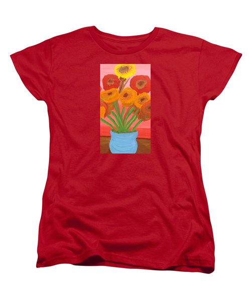Women's T-Shirt (Standard Cut) featuring the painting Poppies 1 by Don Koester