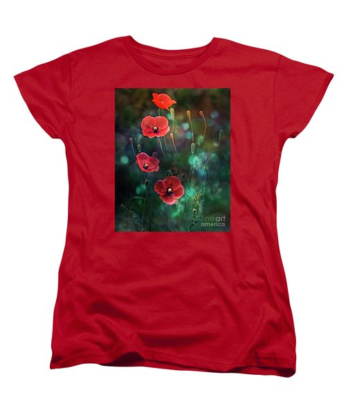 Poppies Fairytale Women's T-Shirt (Standard Cut) by Agnieszka Mlicka