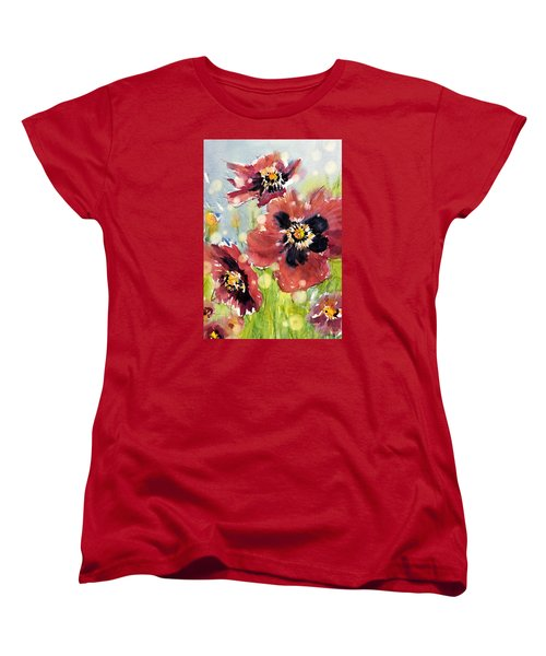 Poppies Women's T-Shirt (Standard Cut) by Judith Levins