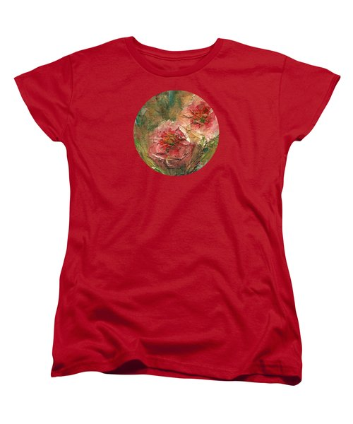 Poppies Women's T-Shirt (Standard Cut) by Mary Wolf