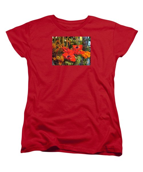 Women's T-Shirt (Standard Cut) featuring the photograph Poppiest by Cathy Dee Janes