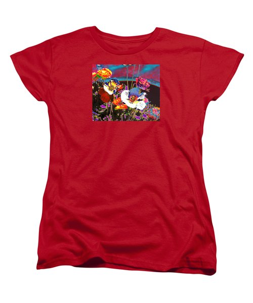 Poppy Abstract 3 Women's T-Shirt (Standard Cut) by M Diane Bonaparte