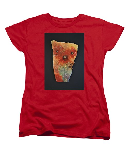 Women's T-Shirt (Standard Cut) featuring the ceramic art Poppy Impressions by Kathleen Pio