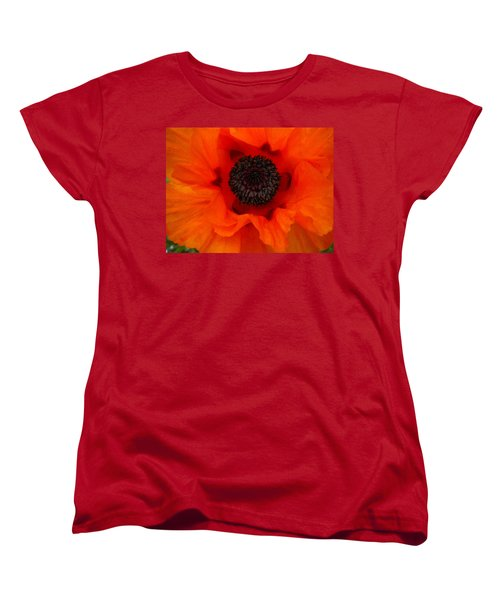 Women's T-Shirt (Standard Cut) featuring the painting Poppy by Renate Nadi Wesley