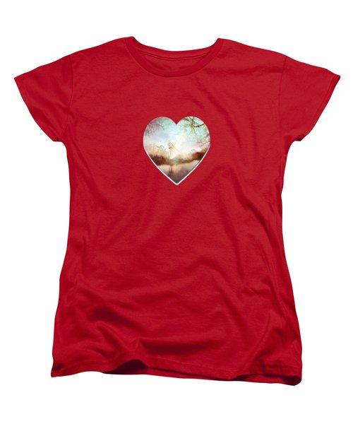 Porcelain Skies Women's T-Shirt (Standard Cut) by Valerie Anne Kelly