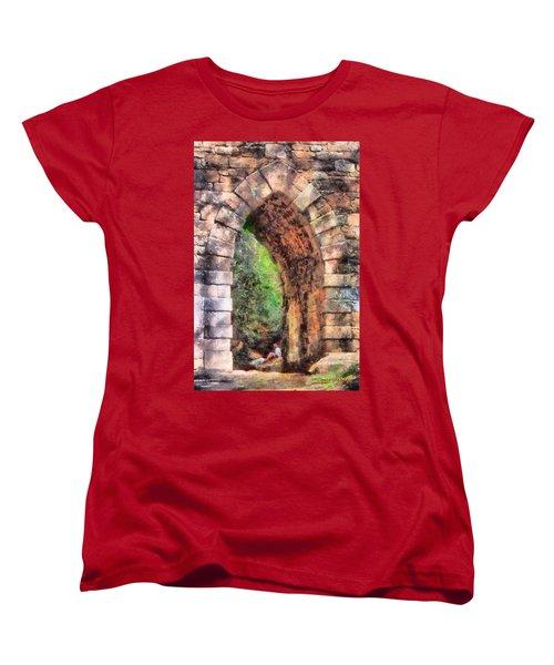 Portal Into Summertime Women's T-Shirt (Standard Cut) by Lynne Jenkins