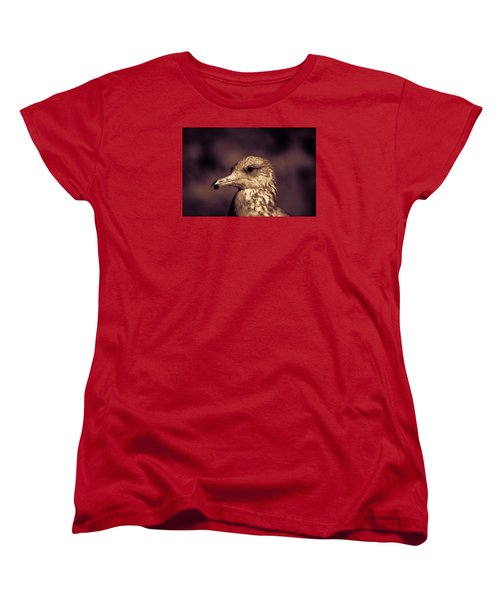 Women's T-Shirt (Standard Cut) featuring the photograph Portrait Of A Gull by Lora Lee Chapman