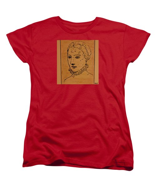 Women's T-Shirt (Standard Cut) featuring the drawing Portrait Of Anne by Bill OConnor