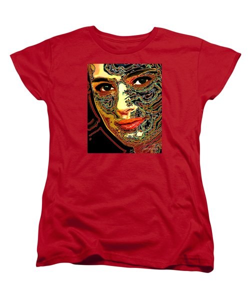 Portrait Of Natalie Portman Women's T-Shirt (Standard Cut) by Zedi