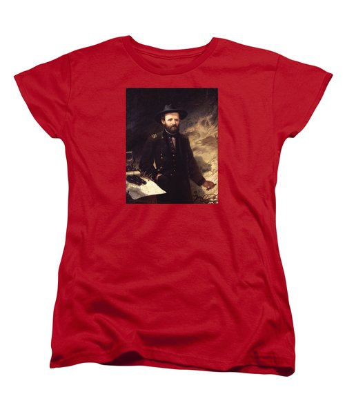 Portrait Of Ulysses S. Grant Women's T-Shirt (Standard Cut) by Ole Peter Hansen Balling