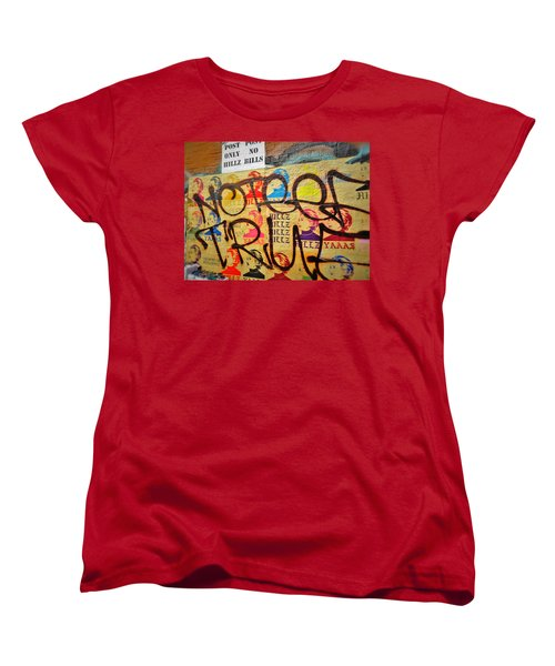 Post No Bills Hillary Clinton  Women's T-Shirt (Standard Cut) by Funkpix Photo Hunter