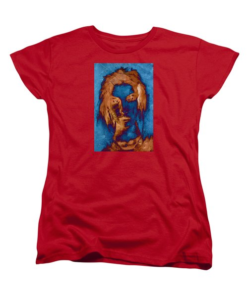 Women's T-Shirt (Standard Cut) featuring the digital art Posterized Portrait by Andrea Barbieri