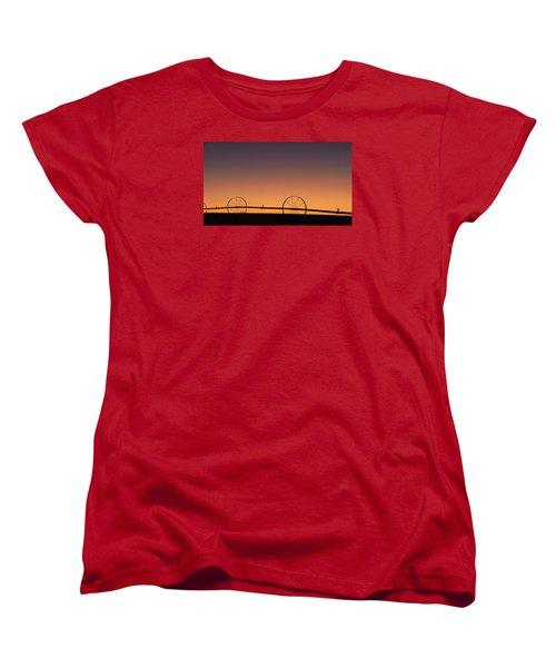 Women's T-Shirt (Standard Cut) featuring the photograph Pre-dawn Orange Sky by Monte Stevens