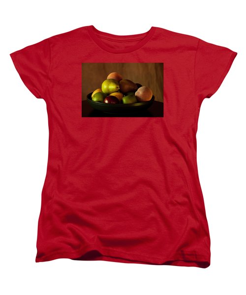 Women's T-Shirt (Standard Cut) featuring the photograph Precious Fruit Bowl by Sherry Hallemeier