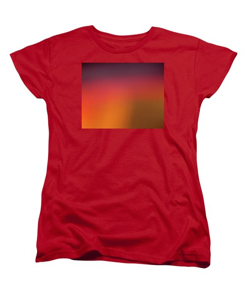 Women's T-Shirt (Standard Cut) featuring the photograph Pretend Sunrise by CML Brown