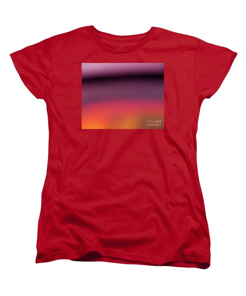 Women's T-Shirt (Standard Cut) featuring the photograph Pretend Sunset by CML Brown