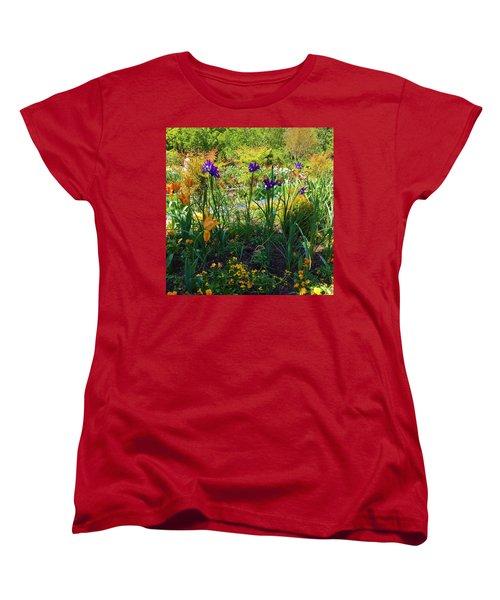Pretty Flowers Women's T-Shirt (Standard Cut) by Kay Gilley