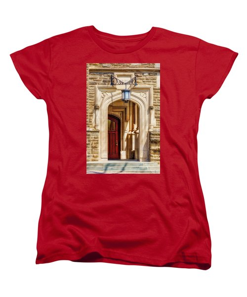 Women's T-Shirt (Standard Cut) featuring the photograph Princeton University 1901 Laughlin Hall by Susan Candelario