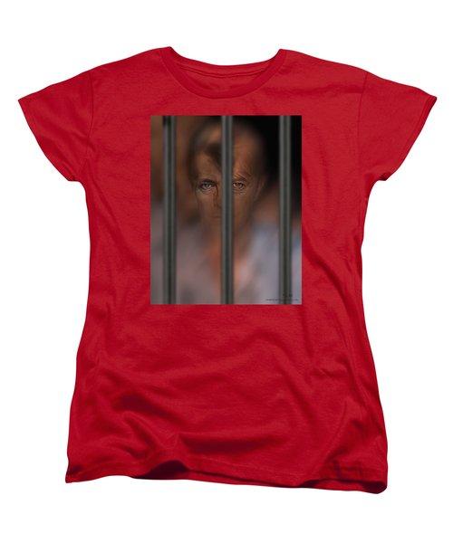 Women's T-Shirt (Standard Cut) featuring the digital art Prisoner Of Love by Pedro L Gili