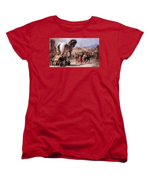 Procession Of The Trojan Horse  Women's T-Shirt (Standard Cut)