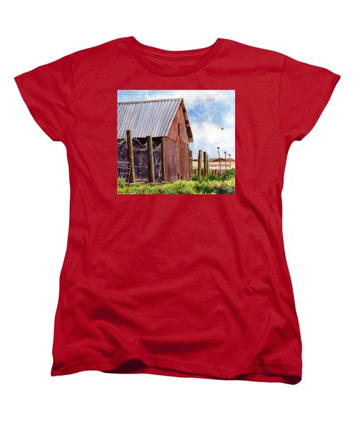 Women's T-Shirt (Standard Cut) featuring the painting Progression by Anne Gifford