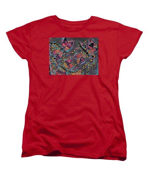 Psychedelic Dragons Women's T-Shirt (Standard Cut) by Megan Walsh