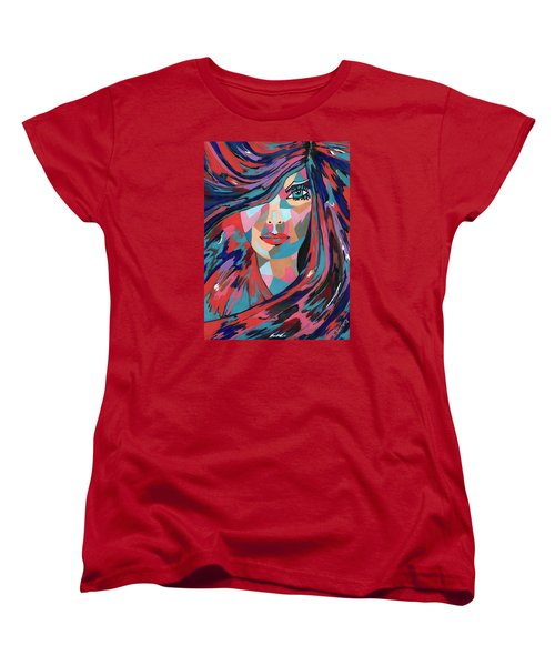 Women's T-Shirt (Standard Cut) featuring the painting Psychedelic Jane by Kathleen Sartoris