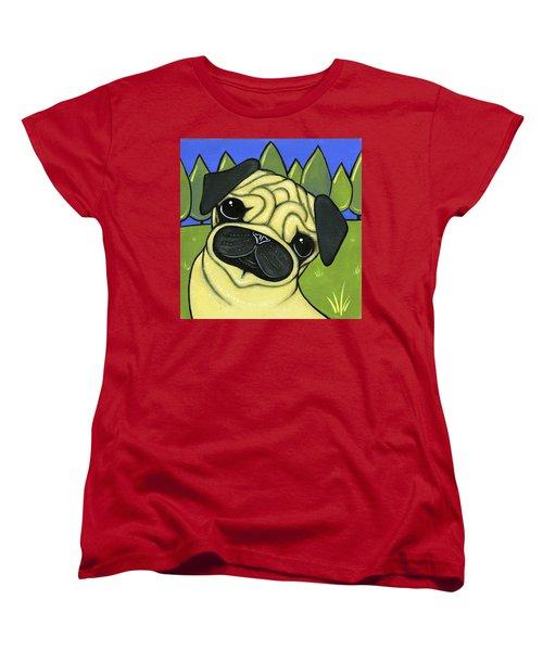 Pug Women's T-Shirt (Standard Cut) by Leanne Wilkes