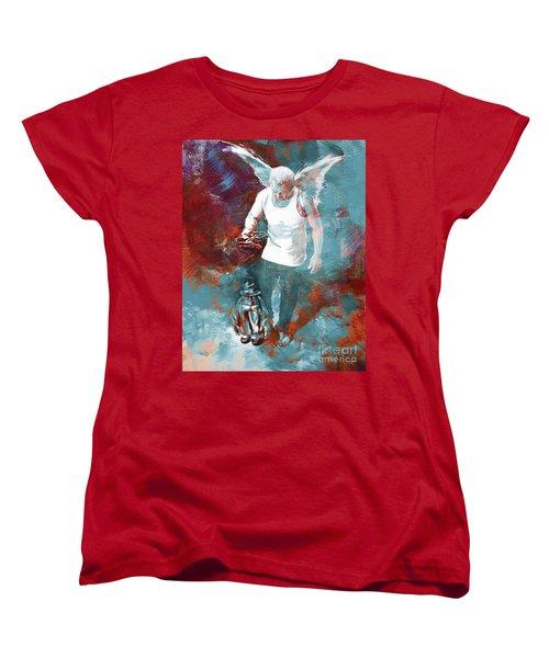 Women's T-Shirt (Standard Cut) featuring the painting Puppet Man 003 by Gull G