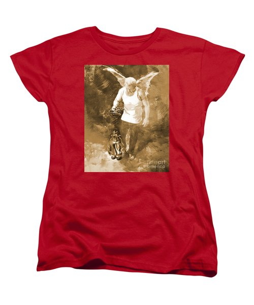 Women's T-Shirt (Standard Cut) featuring the painting Puppet Show by Gull G