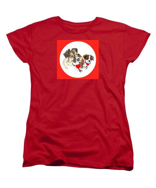 Puppy Christmas Women's T-Shirt (Standard Cut)