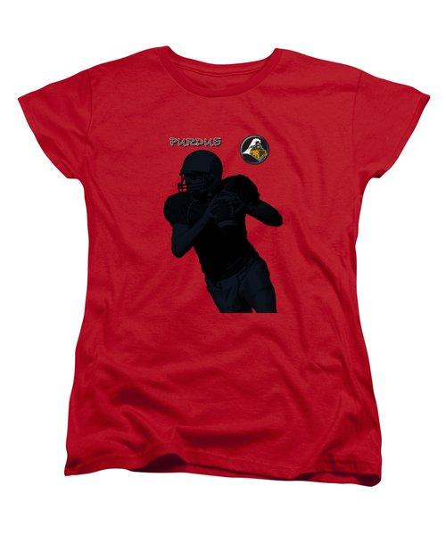 Purdue Football Women's T-Shirt (Standard Cut) by David Dehner