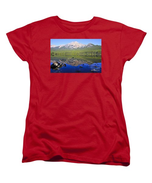 Pyramid Lake Reflection Women's T-Shirt (Standard Cut)
