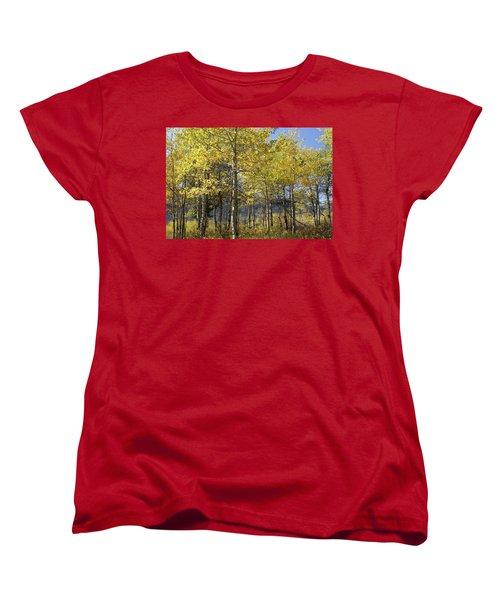 Quaking Aspens Women's T-Shirt (Standard Cut) by Cynthia Powell