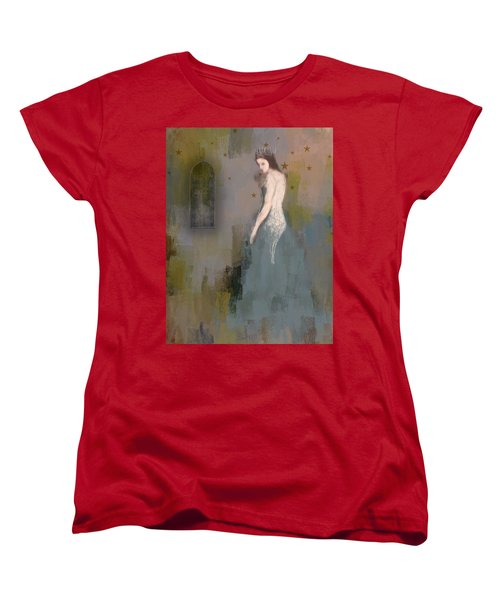 Women's T-Shirt (Standard Cut) featuring the digital art Queen by Lisa Noneman