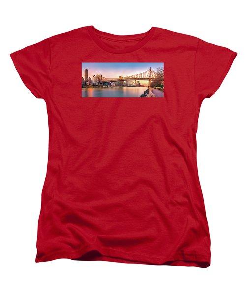 Queensboro Bridge At Sunset Women's T-Shirt (Standard Cut) by Mihai Andritoiu