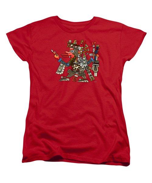 Quetzalcoatl In Human Warrior Form - Codex Borgia Women's T-Shirt (Standard Cut) by Serge Averbukh
