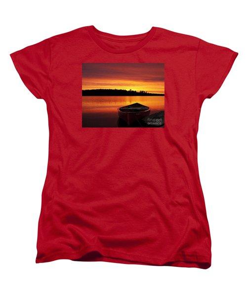 Quiet Sunset Women's T-Shirt (Standard Cut) by Rod Jellison