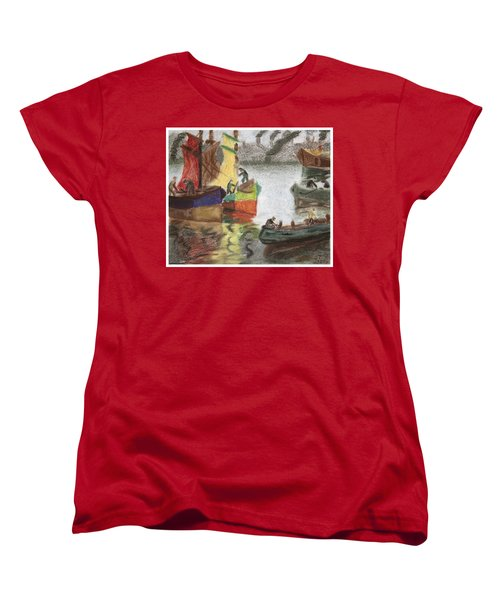 La Boca Caminito Women's T-Shirt (Standard Cut) by Silvia Bruno