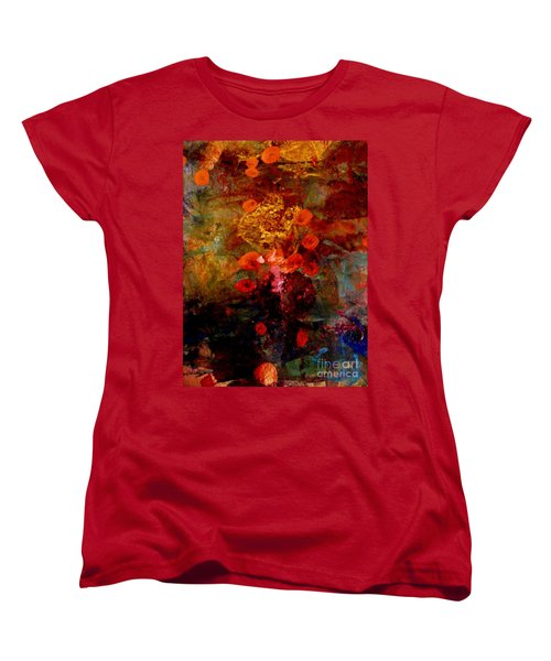Radiant Red Women's T-Shirt (Standard Cut) by Nancy Kane Chapman