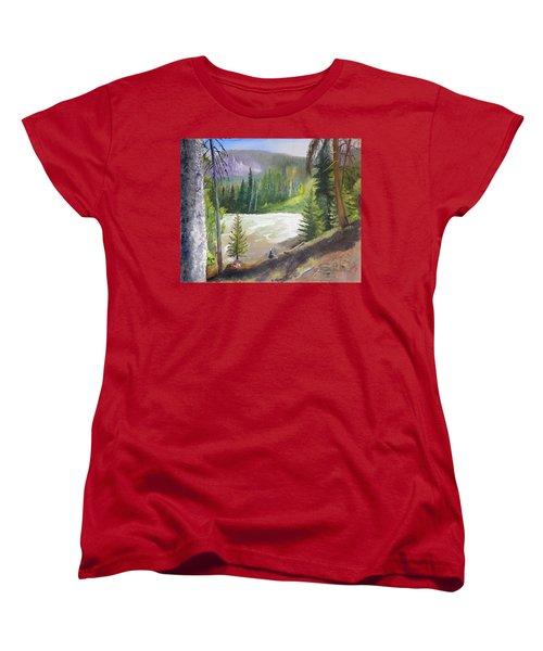 Raging River Women's T-Shirt (Standard Cut) by Sherril Porter
