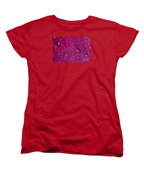 Rain And Bougainvillea Petals Women's T-Shirt (Standard Cut) by Angelo DeVal