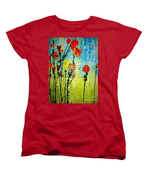 Women's T-Shirt (Standard Cut) featuring the painting Rain Or Shine by Ashley Price