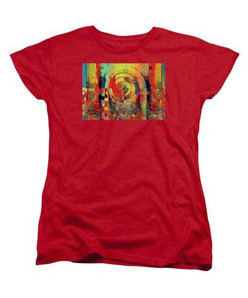 Women's T-Shirt (Standard Cut) featuring the digital art Rainbolo - 01t01ii by Variance Collections