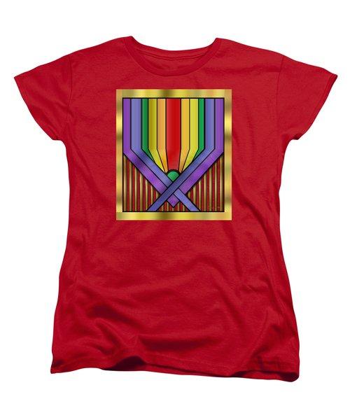 Women's T-Shirt (Standard Cut) featuring the digital art Rainbow Base Transparent by Chuck Staley